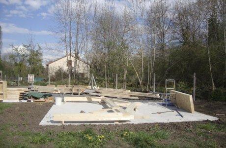 Création d'un garage en ossature bois Saint-Nectaire