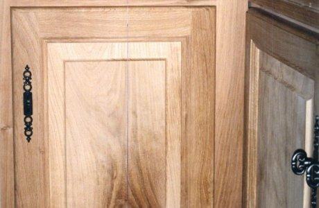Façade de cuisine en chêne avec tiroirs Saint-Nectaire